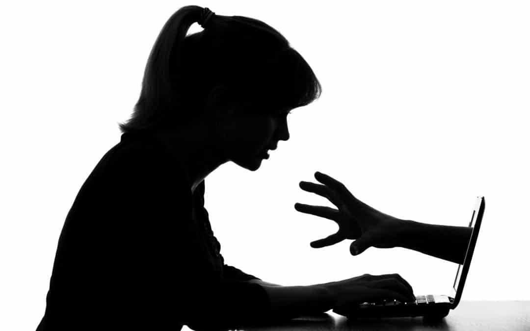 Shadow girl and shadow hand