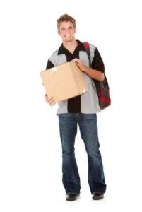 Kid preparing to move into college