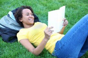 Student Enjoying Reading